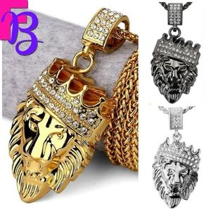18k Gold King Leo Pendant and Chain